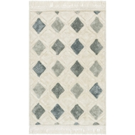 Loloi Echo Area Rug - Ivory & Grey - Polyester & Cotton