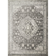 Loloi Griffin Area Rug - Charcoal - 100% Viscose
