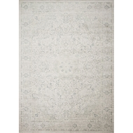 Loloi Griffin Area Rug - Stone & Blue - 100% Viscose