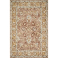 Loloi Julian Area Rug - Terracotta & Gold - 100% Wool