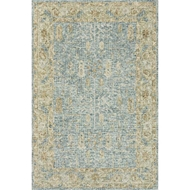 Loloi Julian Area Rug - Blue & Gold - 100% Wool