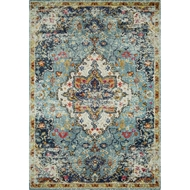Loloi II Nadia Area Rug - Blue & Midnight - Polypropylene
