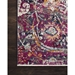Floor View - Loloi Silvia Area Rug - Midnight & Fuchsia - 100% Polypropylene