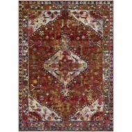 Loloi Silvia Area Rug - Red & Multi - 100% Polypropylene