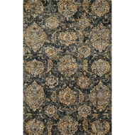 Loloi Torrance Area Rug - Charcoal - 100% Microfiber Polyester