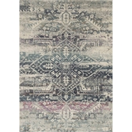 Loloi Zehla Area Rug - Midnight & Multi - 100% Polypropylene