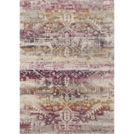 Loloi Zehla Area Rug - Sunset & Ivory