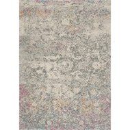 Loloi Zehla Area Rug - Grey & Multi - 100% Polypropylene