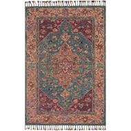 Loloi Zharah Area Rug - Teal & Berry