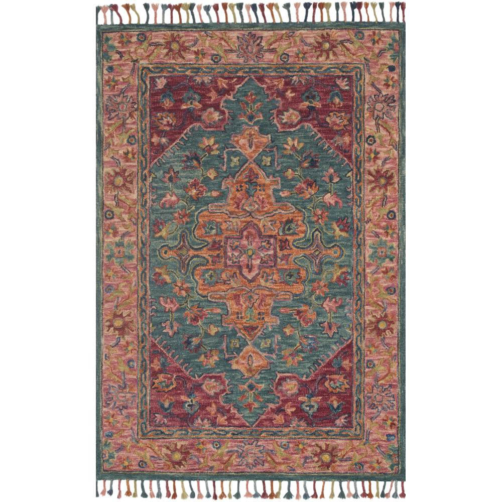 Loloi Zharah Rug Teal & Berry ZR-05