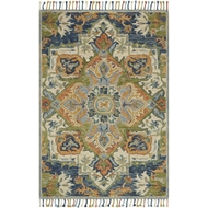 Loloi Zharah Area Rug - Blue & Multi - 100% Wool