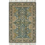 Loloi Zharah Area Rug - Blue & Navy - 100% Wool