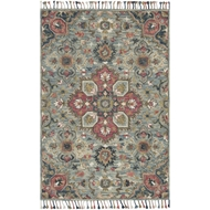 Loloi Zharah Area Rug - Light Blue & Multi - 100% Wool
