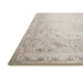 Corner View - Loloi Loren Area Rug - Sand & Taupe - 100% Polyester