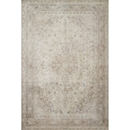 Loloi Loren Area Rug - Sand & Taupe - 100% Polyester