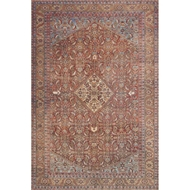 Loloi Loren Area Rug - Red & Multi - 100% Polyester