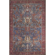 Loloi Loren Area Rug - Blue & Red - 100% Polyester
