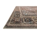 Corner View - Loloi Loren Area Rug - Brick & Midnight - 100% Polyester