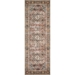 Runner View - Loloi Loren Area Rug - Brick & Midnight - 100% Polyester