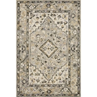 Loloi II Beatty Area Rug - Grey & Ivory - 100% Wool