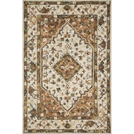 Loloi II Beatty Area Rug - Ivory & Rust - 100% Wool
