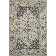 Loloi II Beatty Area Rug - Lt. Blue & Blue - 100% Wool