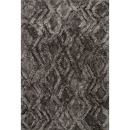 Loloi Caspia Area Rug - Charcoal - 100% Polyester