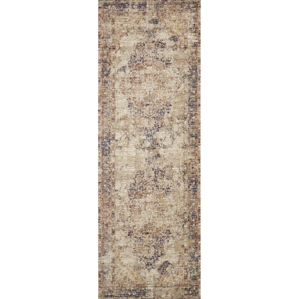 Runner View - Loloi Porcia Area Rug - Ivory & Ivory - Power-loomed