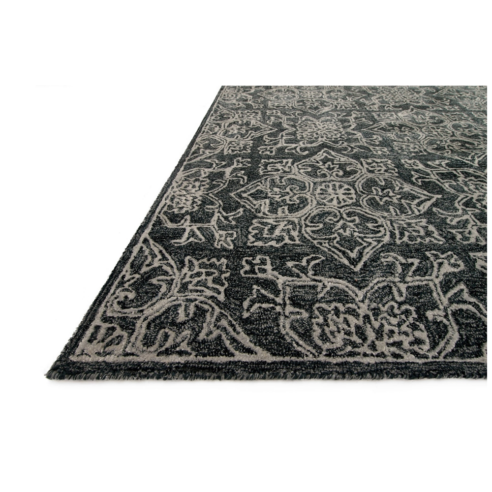 Loloi Filigree Area Rug   Charcoal