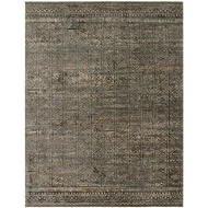 Loloi Javari Area Rug - Charcoal & Silver - Polyester and Polypropylene