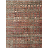 Loloi Javari Area Rug - Steel & Sunrise - Polyester and Polypropylene