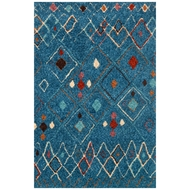 Loloi Kalliope Area Rug - Blue & Multicolored - 100% Polyester
