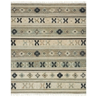 Loloi Owen Area Rug - Aqua & Ink - Jute & Wool