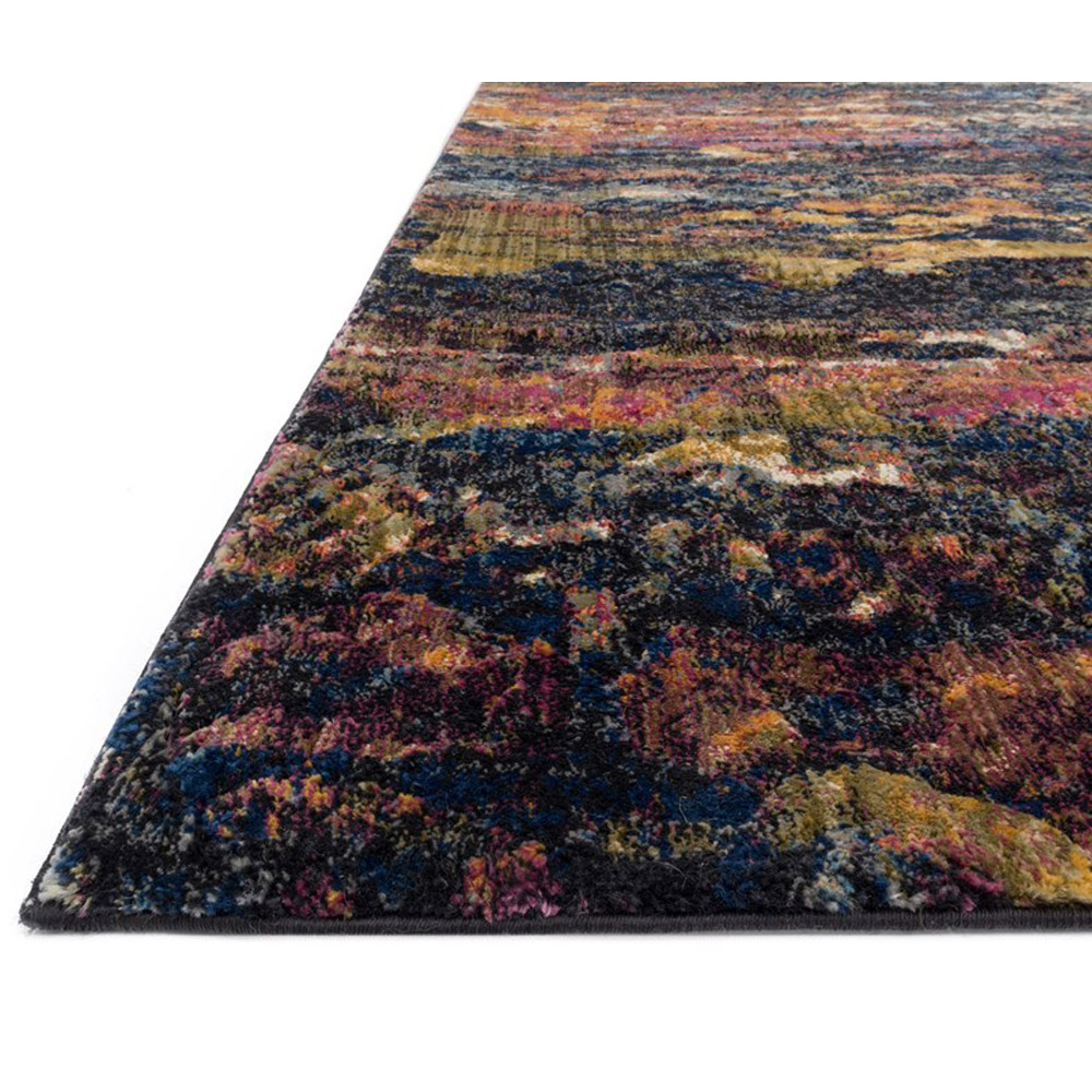 Loloi Dreamscape Area Rug Midnight Multicolored Polypropylene Polyester