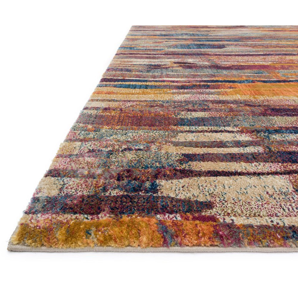 Loloi Dreamscape Area Rug Raspberry Multicolored Polypropylene Polyester