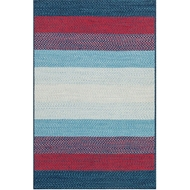 Loloi Garrett Area Rug - Blue & Red Rug - 100% Polypropylene
