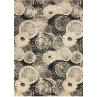 Loloi Journey Area Rug - Black & Multicolored Rug - 50% Wool 50% Viscose