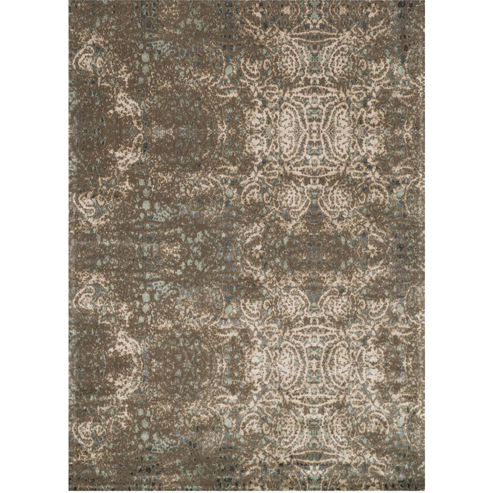 Loloi Journey Area Rug Dark Taupe Multicolored Wool Viscose