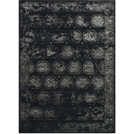Loloi Journey Area Rug - Black & Charcoal Rug - Wool & Viscose
