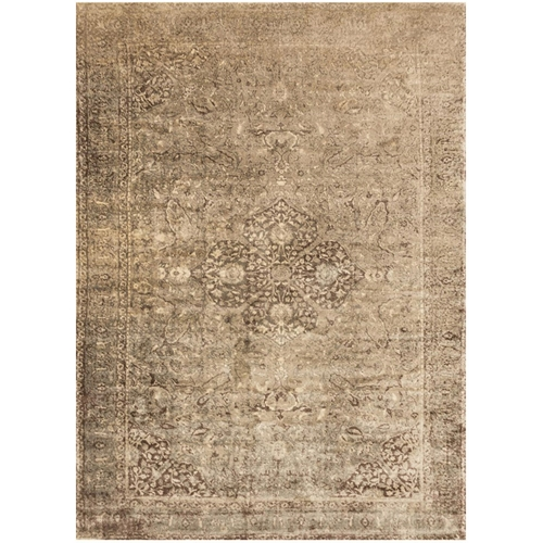 Loloi Nyla Rug Sand Amp Dark Brown Ny 20 Transitional Area