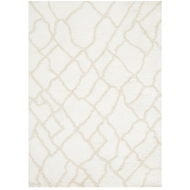 Loloi Tangier Shag Area Rug - White & Beige Rug - 100% Polyester