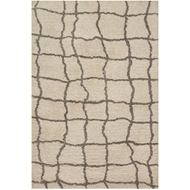 Loloi Tangier Shag Area Rug - Sand & Taupe Rug - 100% Polyester