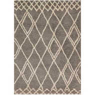 Loloi Tangier Shag Area Rug - Granite & Sand Rug - 100% Polyester