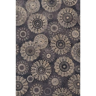 Loloi Avanti Area Rug - Charcoal & Beige Rug - 100% Polyester