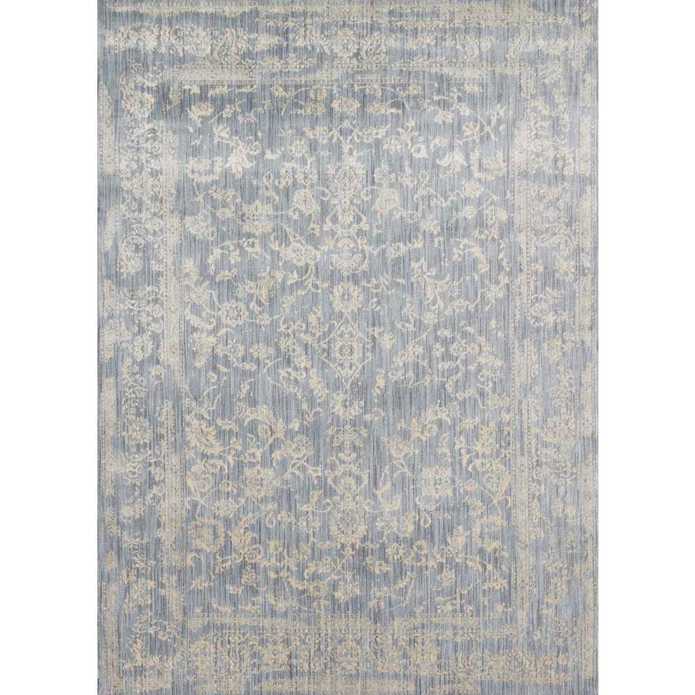 Loloi Florence Area Rug Light Blue Ivory Polypropylene Polyester