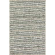Loloi Isle Area Rug - Grey & Teal - 100% Polypropylene