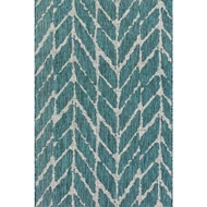 Loloi Isle Area Rug - Teal & Grey - 100% Polypropylene
