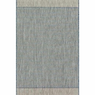 Loloi Isle Area Rug - Grey & Blue - 100% Polypropylene