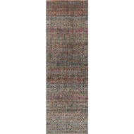 Loloi Javari Area Rug - Charcoal & Sunset - Polyester and Polypropylene