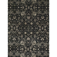 Loloi Journey Area Rug - Black & Silver Rug - Wool & Viscose